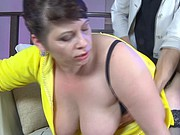 BBW-Granny taken by Young Guy