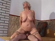 granny with slaggy tits goes anal