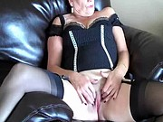 Mature vixen Anita beautiful MILF pussy play