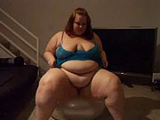 Fat woman shaking her body