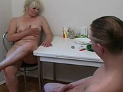 Sex with Russian, mature woman