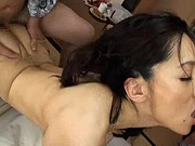 Japanese stepmother likes threesomes