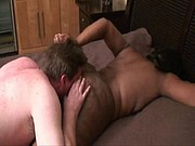 Licking big black ass!