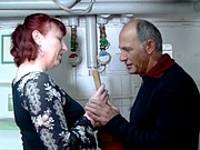 German mature redhead housewife and the plumber - Amanda