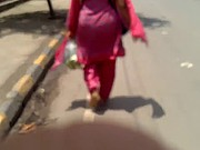 Indian Milf in Pink Salwar Ass