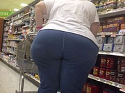 White BBW GILF PHAT ASS Shopper