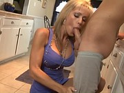 Fucking with milf in the kitchen