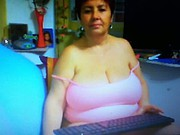 (Non nude) busty granny in pink top