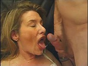 MILF 3some anal and facial