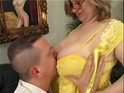 Busty mature ang young man