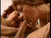 Duo Of Cock Sucking MILFs Spread Their Pussies